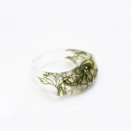 Moss resin ring, ocean resin rings,..