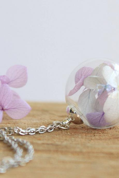 Will you be my bridesmaid gift necklace , real flower jewelry , botanical jewelry, unique gift idea, birthday gift for women
