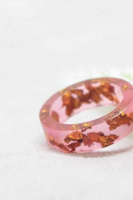 Pink rings for women, resin ring pink, resin jewelry ring, unique rings for her, unique rings for her, unique jewelry for women, Armenian