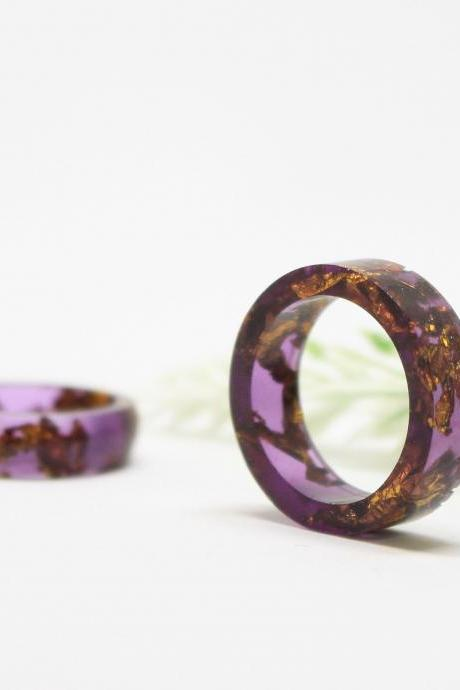Unique rings for women, rings for girlfriend, sister rings birthday gift, purple resin ring, stackable resin rings, Armenian gifts jewelry