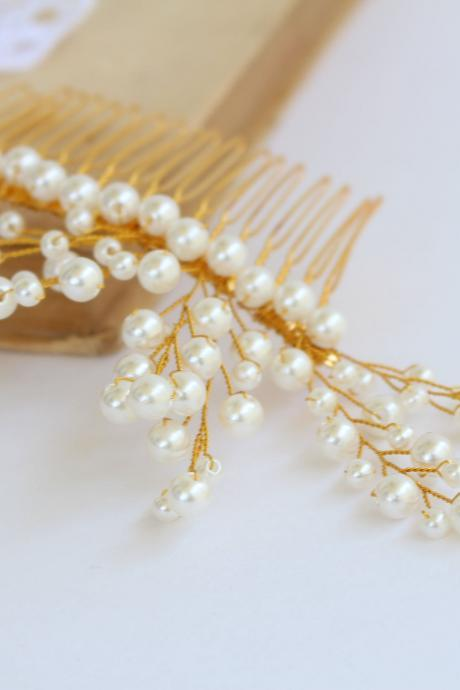 Pearl hair comb , pearl wedding hair accessories , hair combs for wedding , bridal hair piece , bridesmaid hair accessories Armenian gift